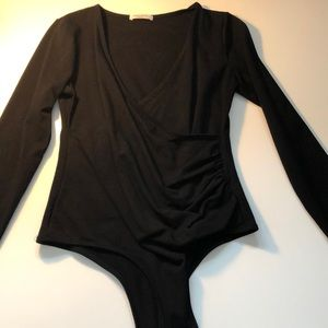 Tops - Deep-V stretch body suit